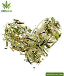 CBD Hanftee mit Zitronengras (Lemongrass), 50 Gramm mit 0,6 % Cannabidiol Anteil